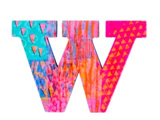Modern dekor betűk