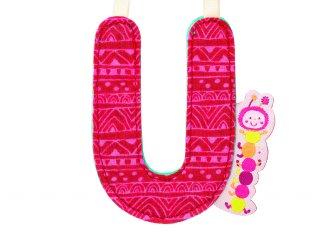 Textil betű, kétoldalas