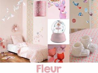 Virágos-madaras szoba, Fleur
