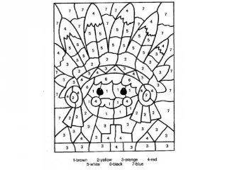Nyomtatható színező számokkal, számszínező