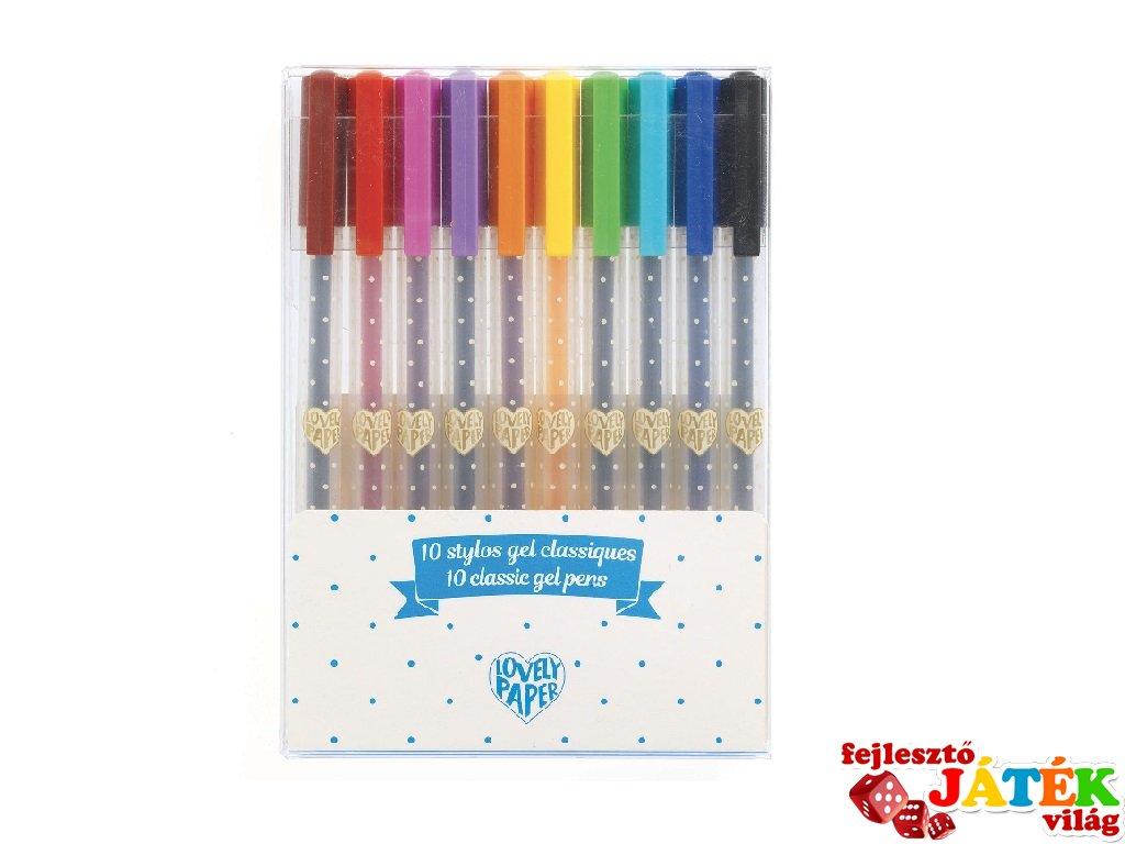 10 klasszikus színű gél toll készlet, Djeco kreatív szett - 3759