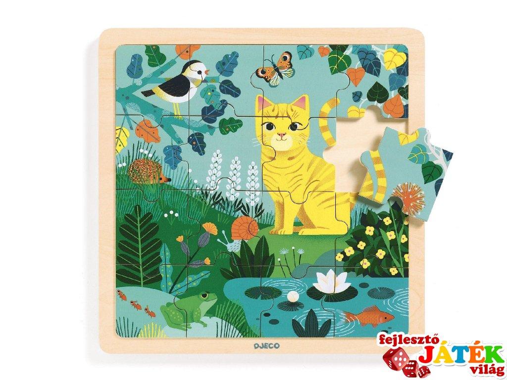 16 db-os fa kirakó Lili cica, Djeco puzzle - 1819 (2-5 év)