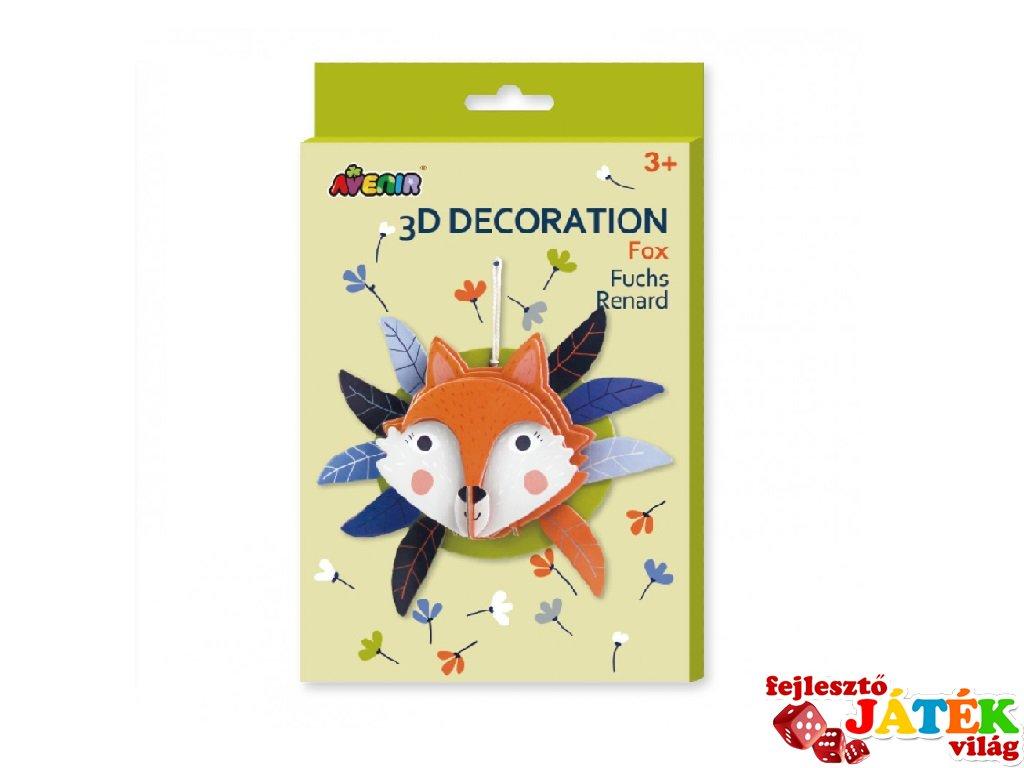 3D dekorációs puzzle Róka, kreatív készlet (Avenir, 3-6 év)