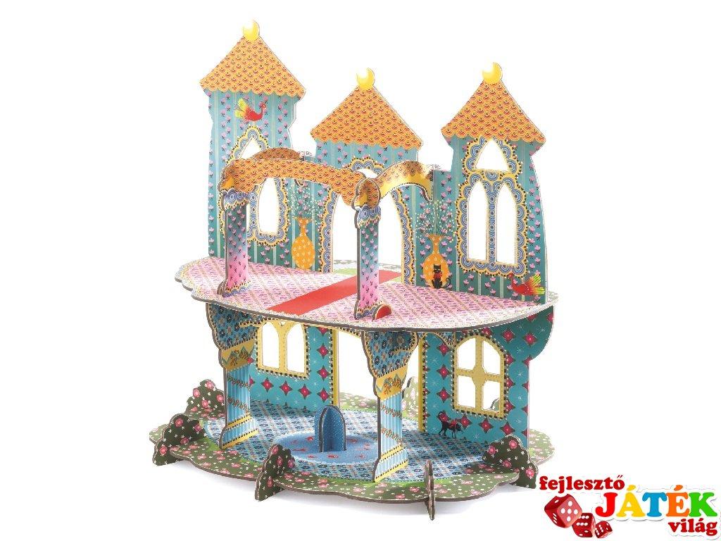 3D-s puzzle, Csodálatos kastély (Djeco, 7702, 20 db-os kirakó, 3-8 év)