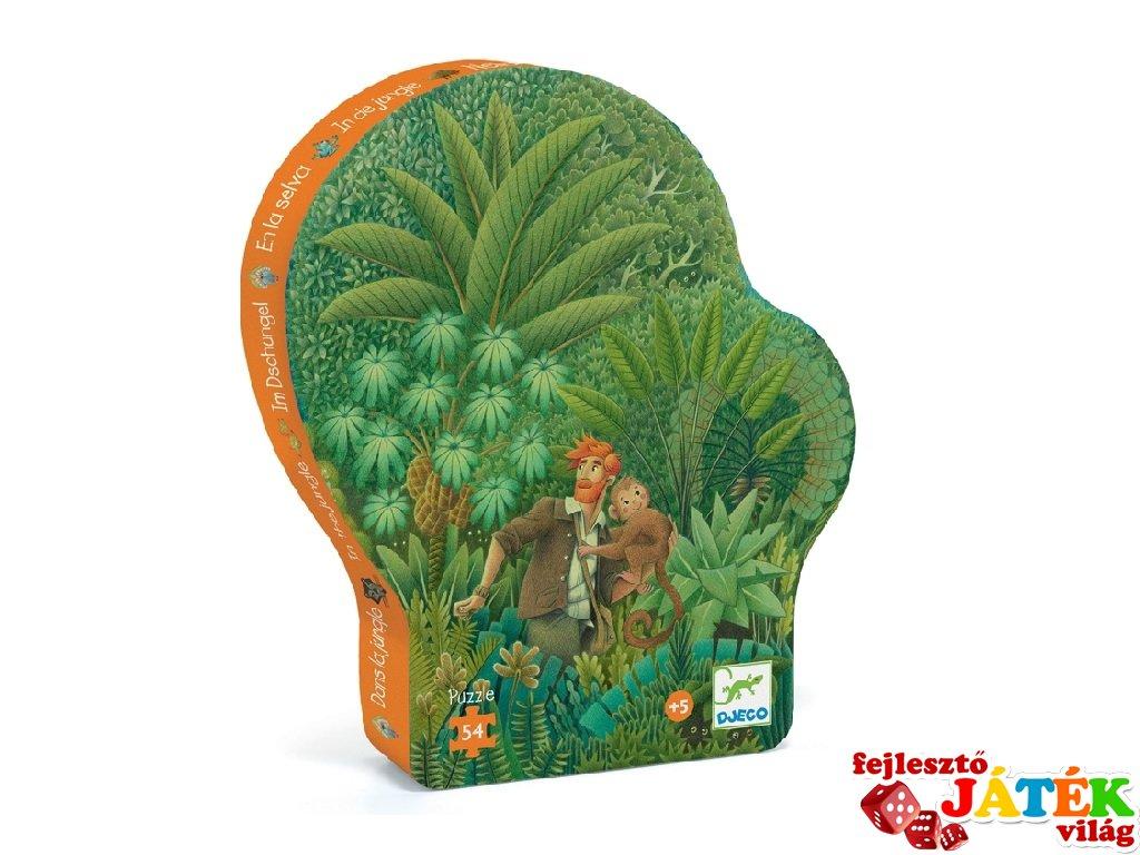 A dzsungelben 54 db-os formadobozos puzzle, Djeco kirakó - 7244 (5-8 év)