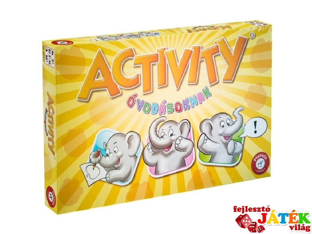 Activity óvodásoknak, 165 feladványos partijáték (Piatnik, 4-7 év)