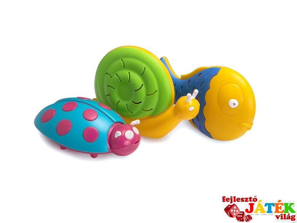 Állat formájú csörgő, Halilit baba hangszer többféle színben (3 hó-2 év)