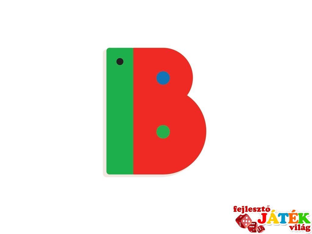 Állatdekor betű fából: B, Djeco szobadekoráció - 4961