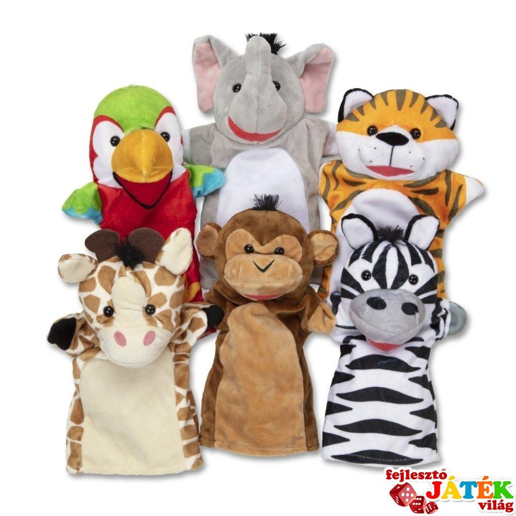 Állatkerti szafari állatok 6 db-os bábjáték (MD, 9118)