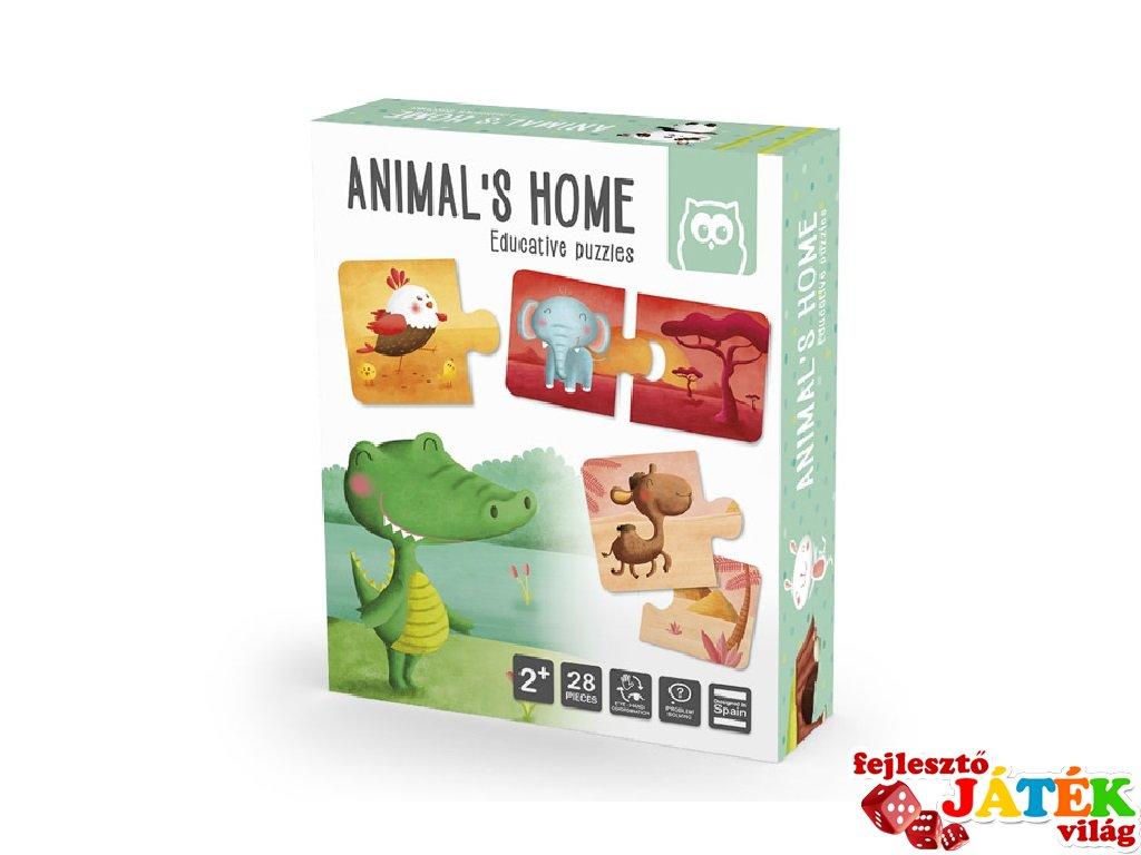 Állatok élőhelye, Montessori párosító puzzle (2-4 év)