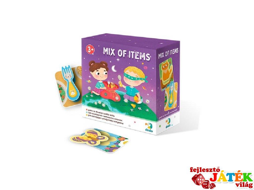 Állatok és tárgyak tapintós játék, társasjáték óvodásoknak (DO, 3-6 év)