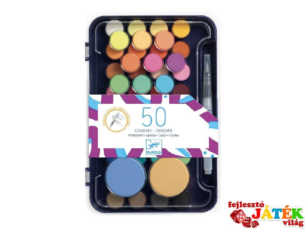 Artist's palette gouache festék készlet, Djeco kreatív szett - 9784