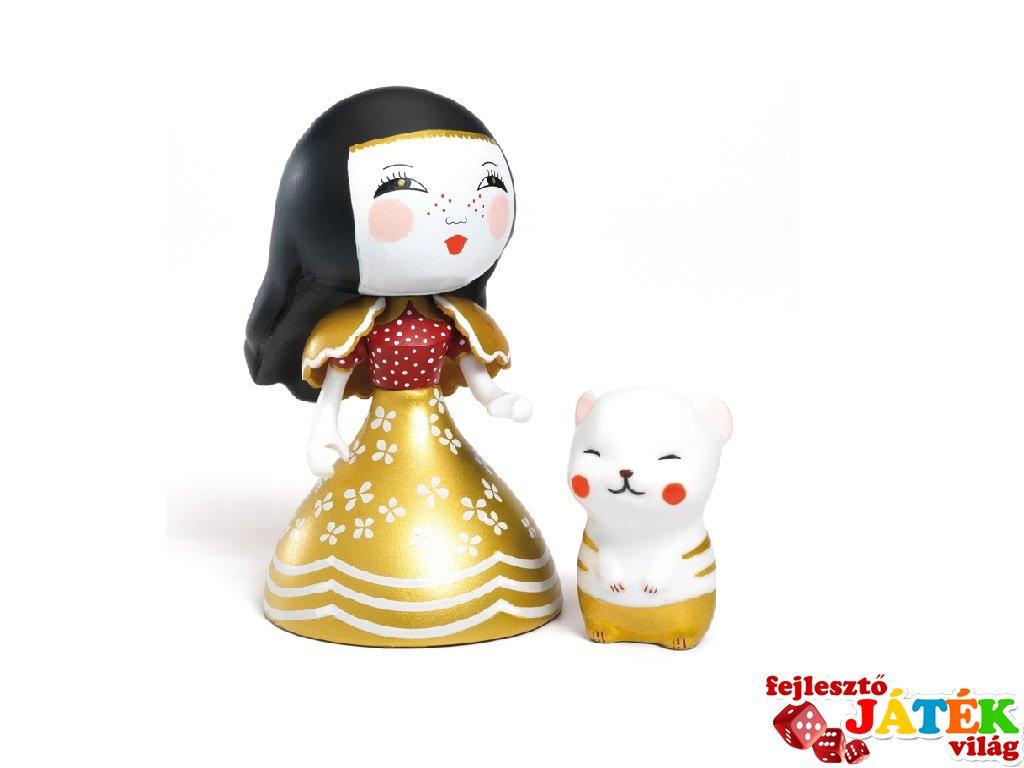 Arty Toys, Mona & Moon Djeco hercegnő figura cicával - 6785
