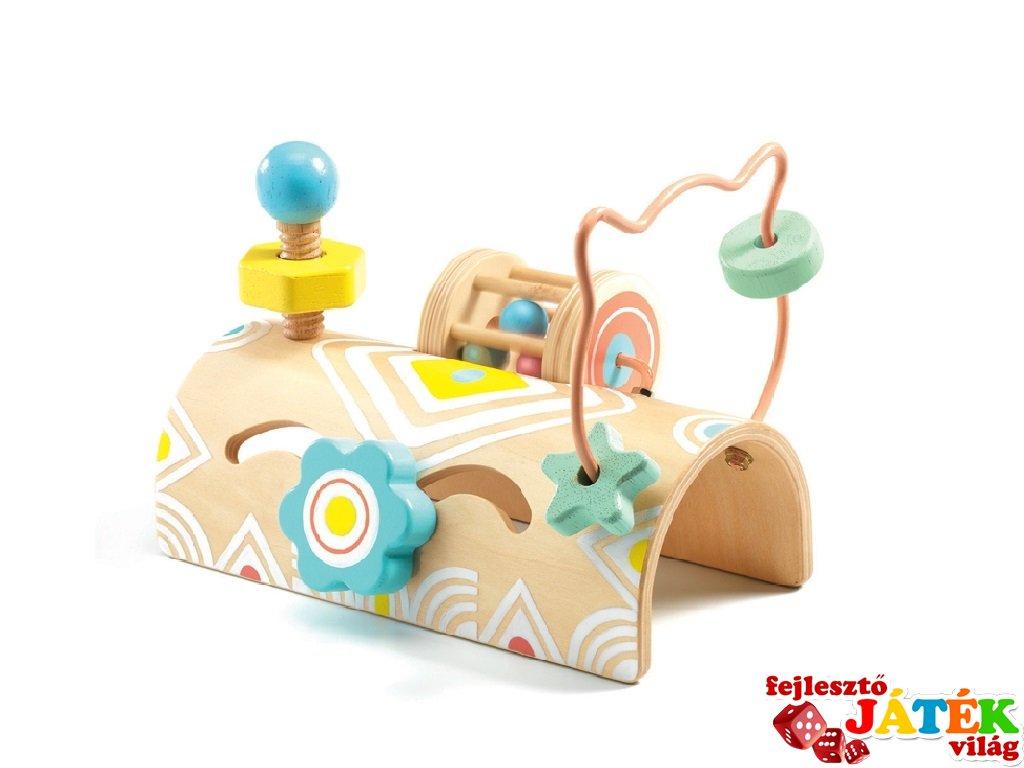 BabyTabli Tekergő, Djeco felfedező játék, fa bébijáték - 6120 (6 hó-1,5 év)