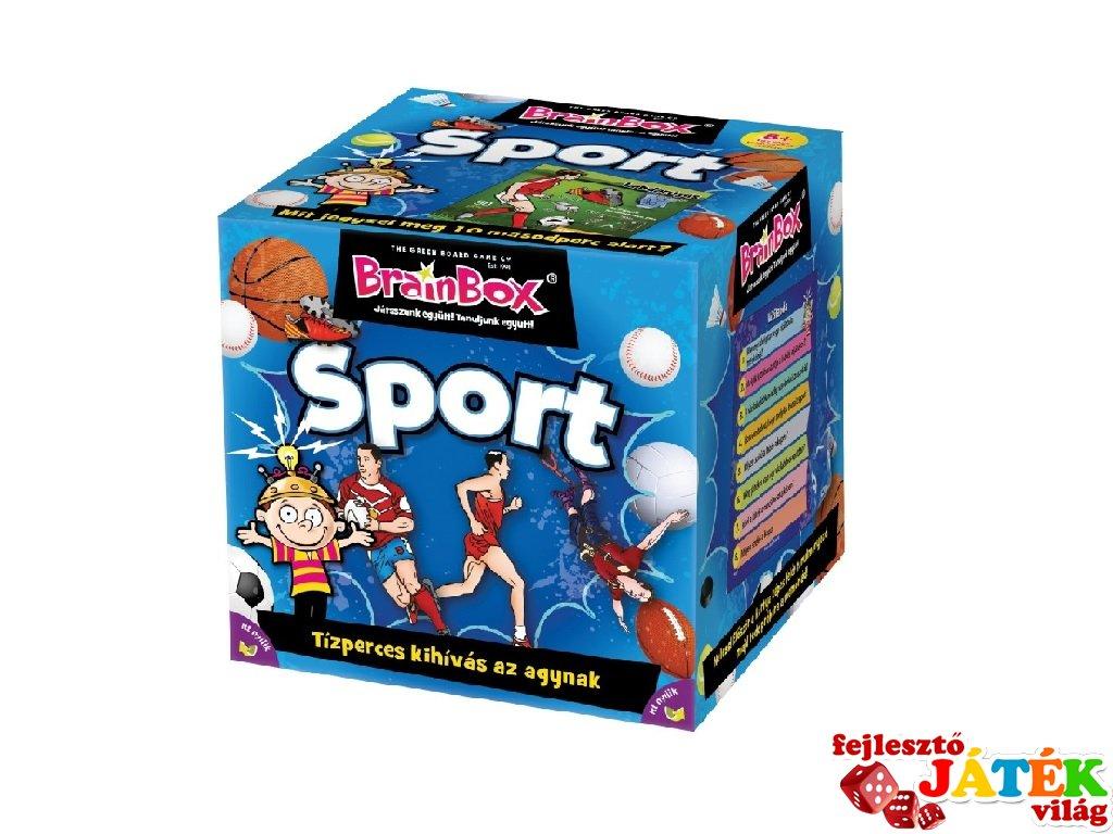BrainBox Sport, memóriafejlesztő kvíz társasjáték (8-99 év)