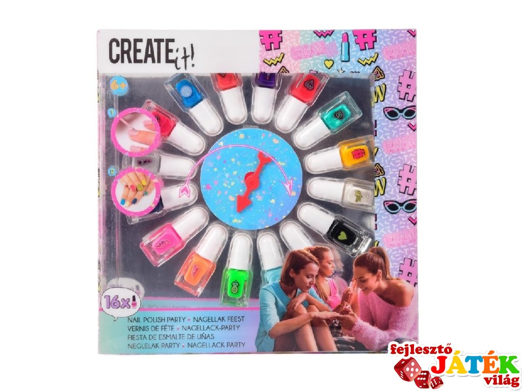 Canenco Create It! Körömlakk 16 db-os party szett, kreatív készlet (6-10 év)