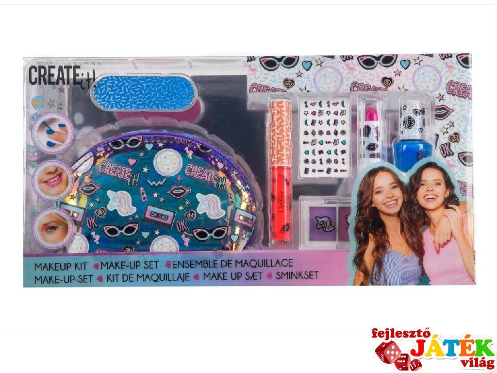 Canenco Create It! Make-Up szett neszeszer táskában, kreatív készlet (6-10 év)