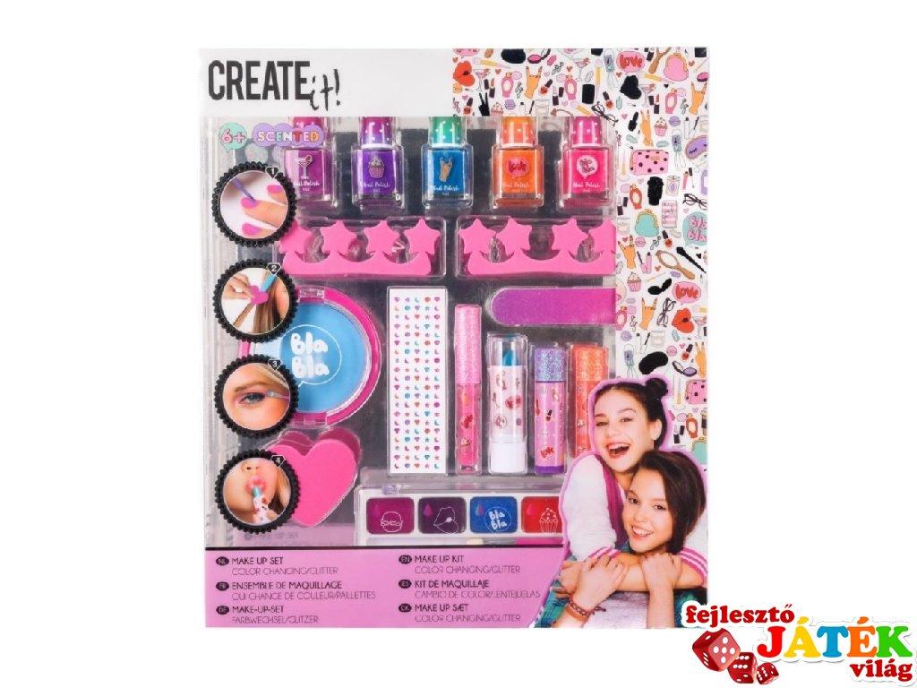 Canenco Create It! Make-Up szett színváltós/csillámos, kreatív készlet (kétféle, 6-10 év)