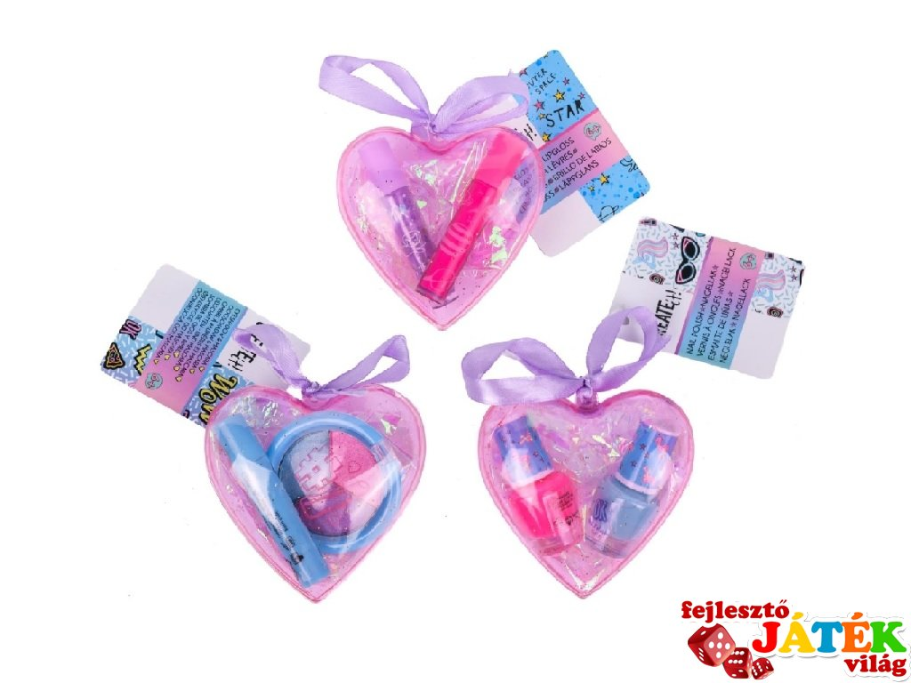 Canenco Create It! Make-Up szett szív alakú dobozban, kreatív készlet (többféle, 6-10 év)