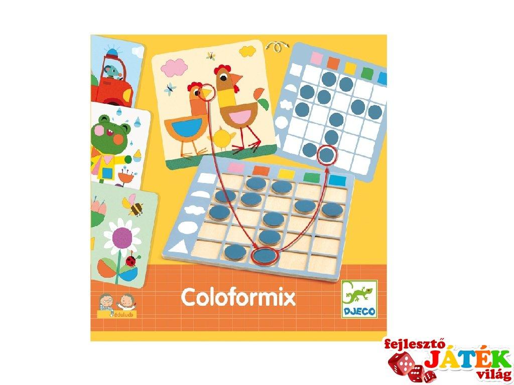Coloformix, Djeco forma- és színfelismerést fejlesztő logikai játék - 8351 (3-7 év)