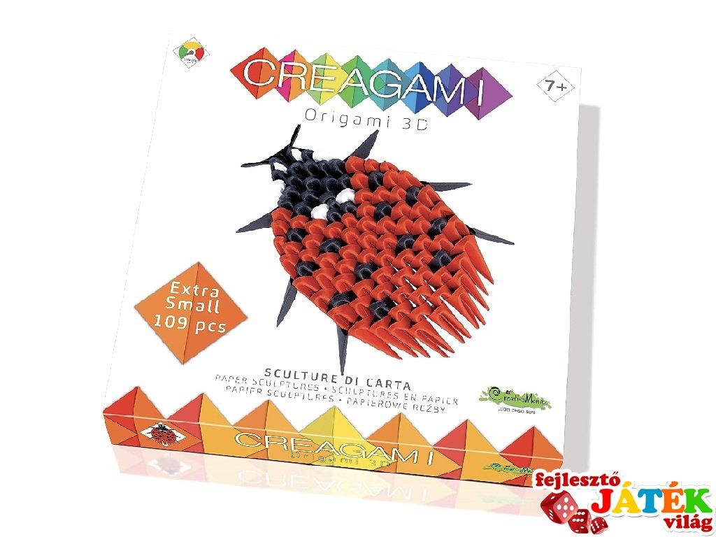 Creagami 3D origami készlet, Katica mini (7-99 év)