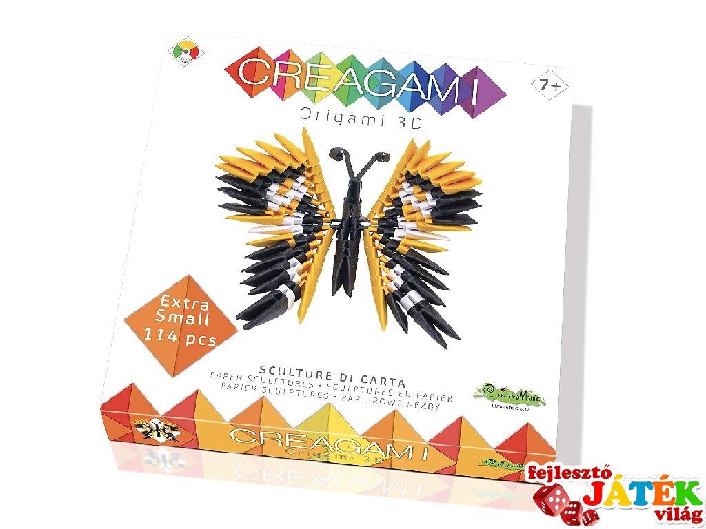 Creagami 3D origami készlet, Pillangó mini (7-99 év)