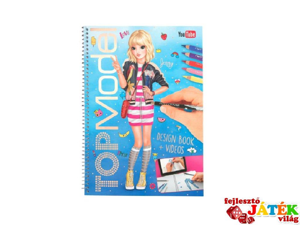 Design, Top Model ruhatervező könyv, kreatív játék (8-12 év)