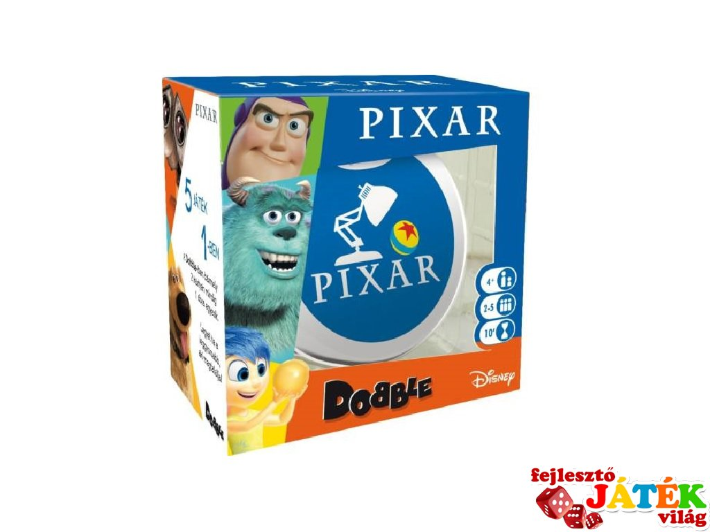 Dobble Pixar, Asmodee, megfigyelős gyorsasági kártyajáték (4-12 év)