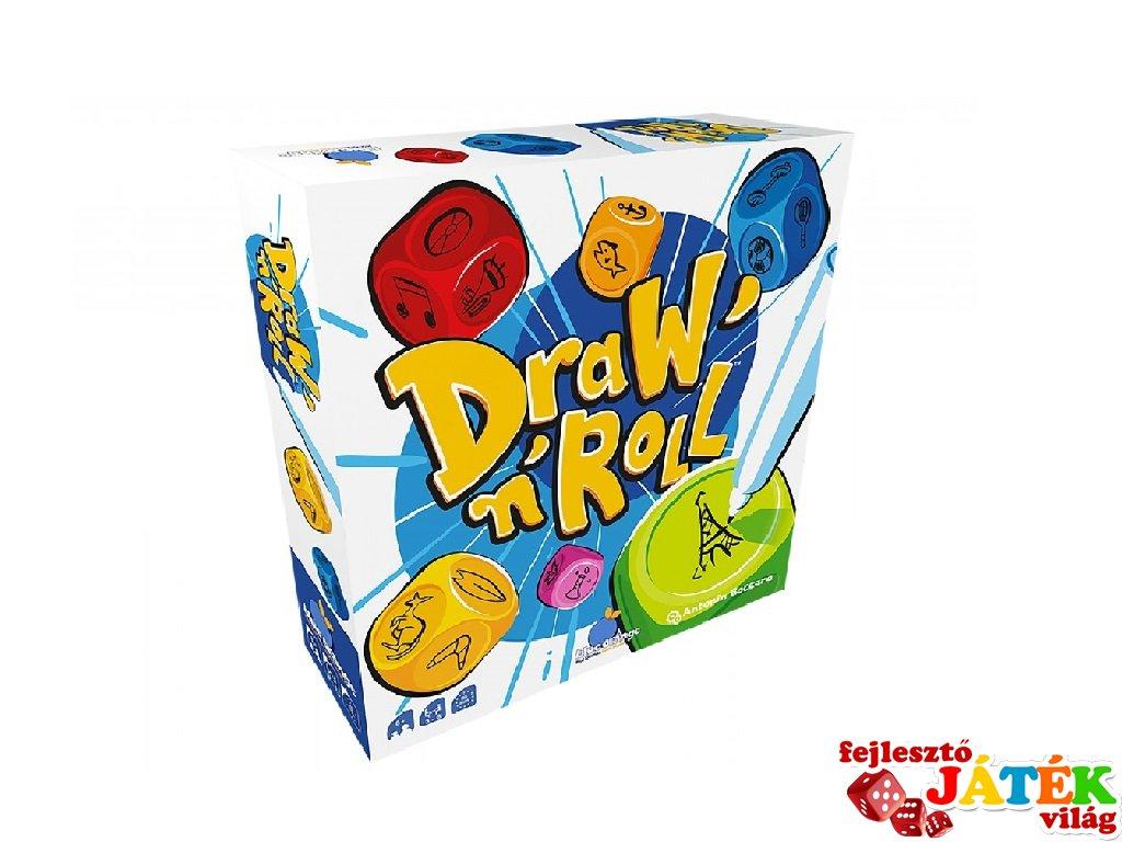 Draw'n'Roll Rajzolj és dobj, asszociációs parti társasjáték (10-99 év)