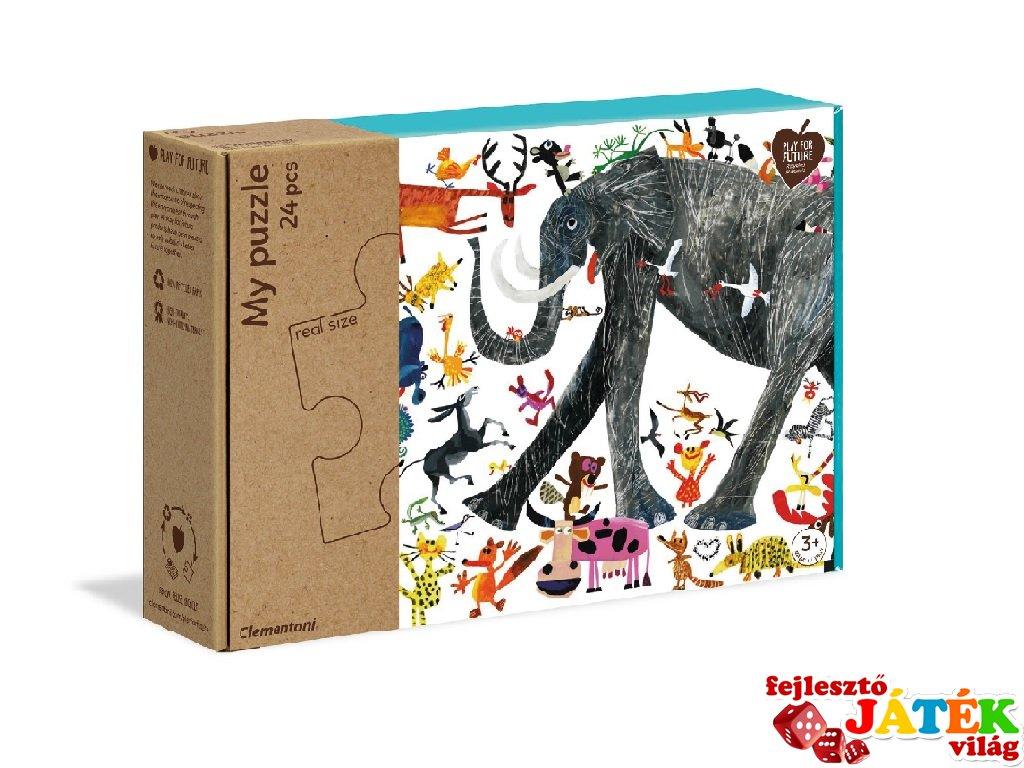 Dzsungel kirakó, 24 db-os puzzle (CLEM, 3-6 év)