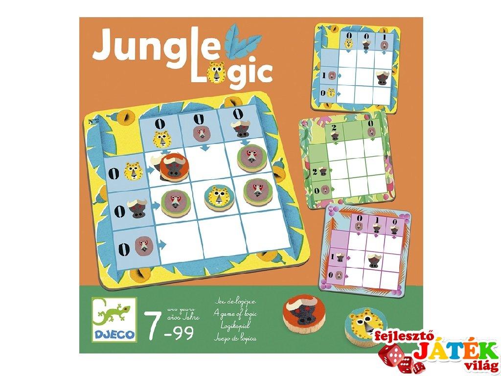 Dzsungel logika (Djeco, 8450, képes sudoku játék, 7-99 év)
