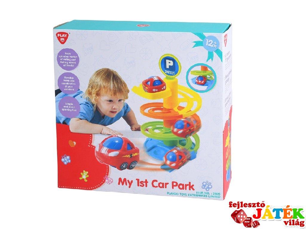 Első autós játékom Spirál autópálya, bébijáték (1-3 év)