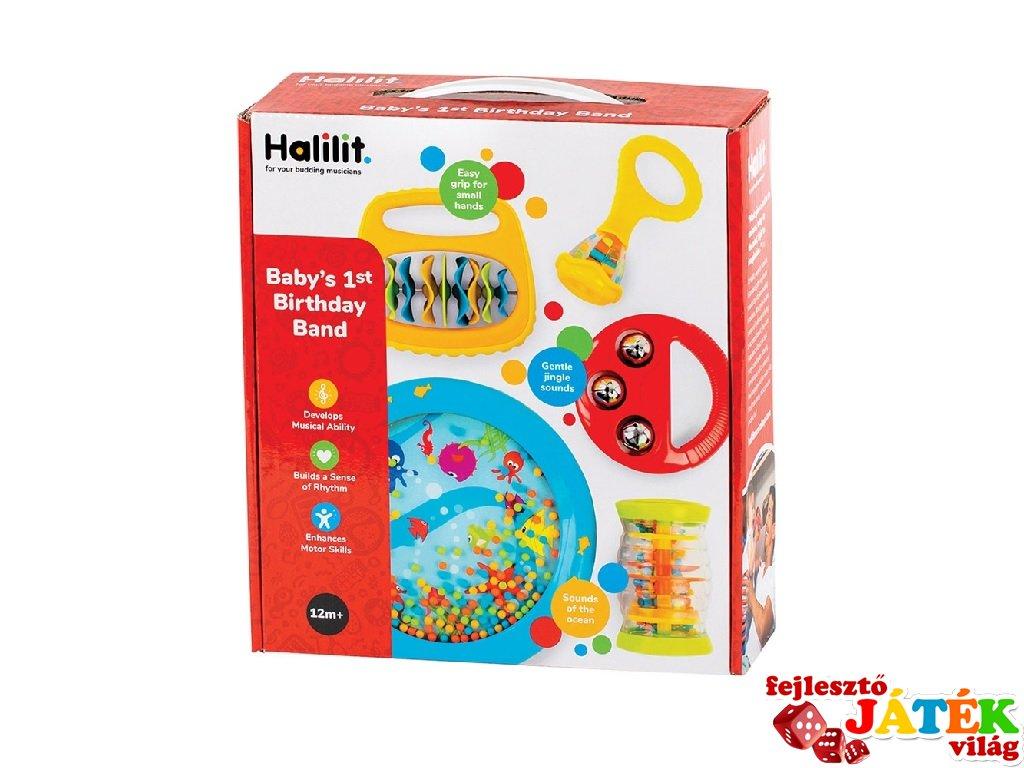 Első bébi szülinapi bandám csörgőkészlet, Halilit baba hangszer (1-3 év)