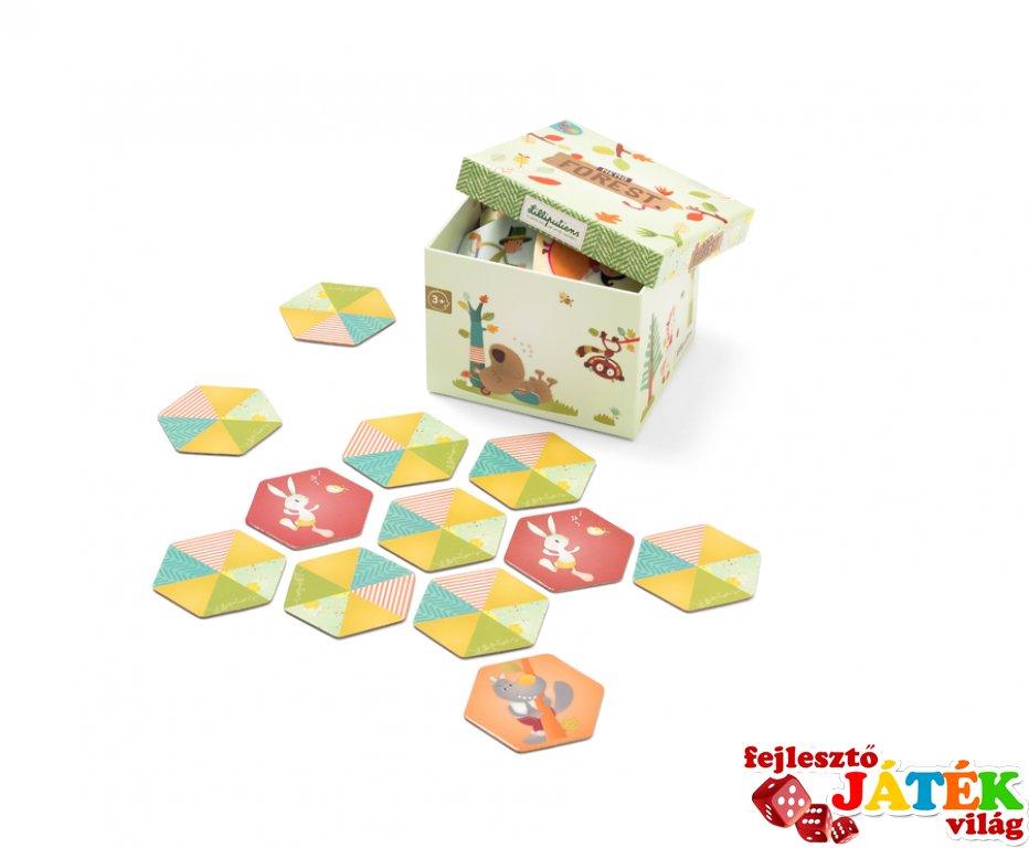Elvarázsolt erdő memóriajáték (Lilliputiens, gyerek társasjáték, 3-6 év)