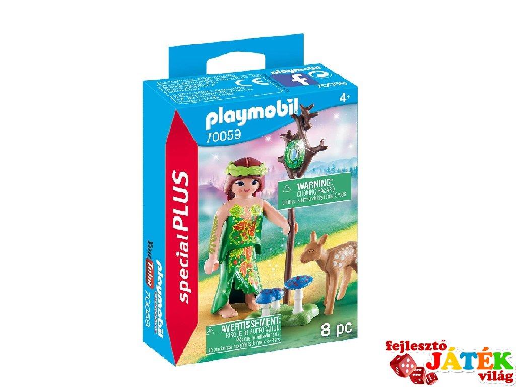 Erdei tündér őzikével, Playmobil szerepjáték (70059, 4-10 év)