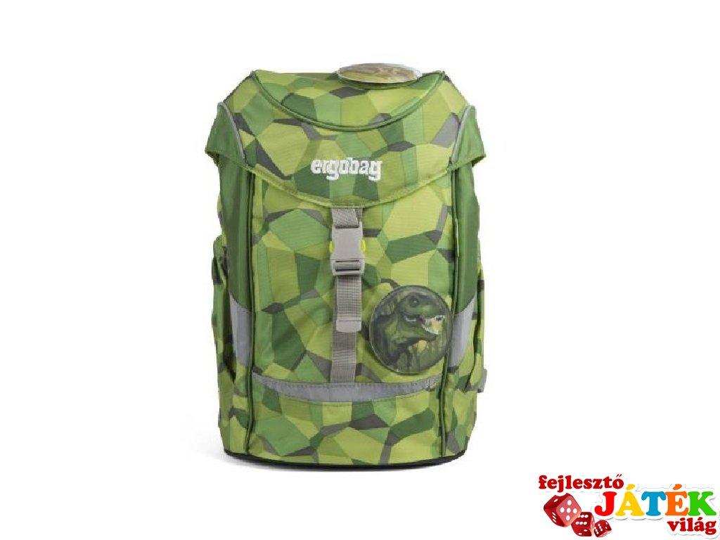 Ergonómikus ovis hátizsák, Kockás dínós (Ergobag Mini, gyerek hátizsák, 3-6 év)