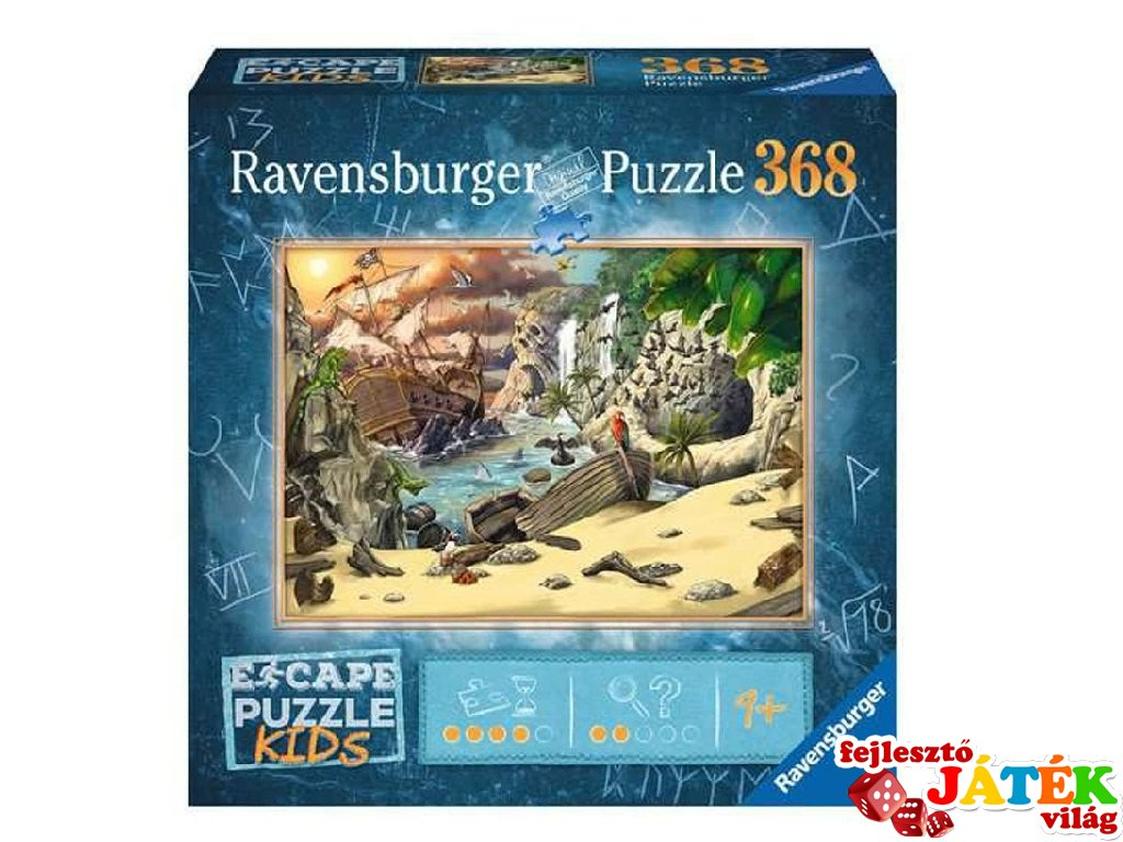 Exit puzzle Kids Kalózok kincse, 368 db-os nyomozós kirakó (9-12 év)