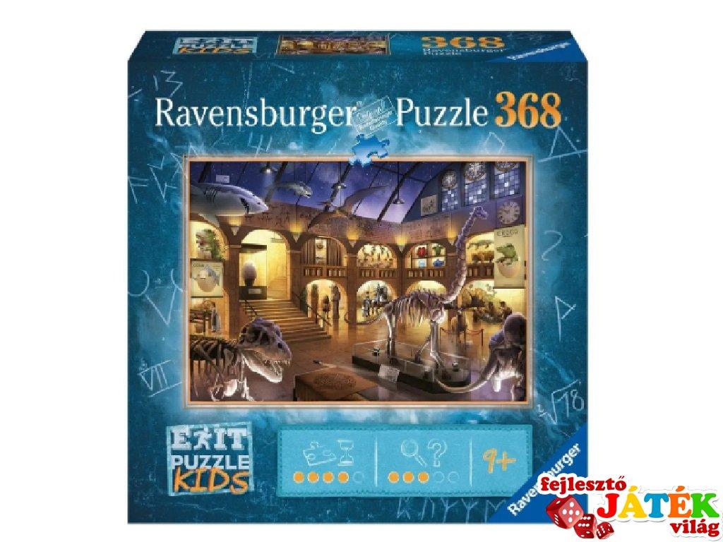 Exit puzzle Kids Természettudományi múzeum, 368 db-os nyomozós kirakó (9-12 év)