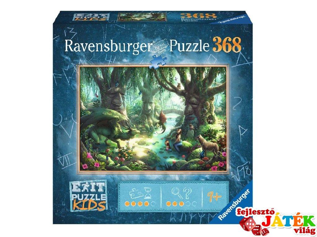 Exit puzzle Kids Varázslatos erdő, 368 db-os nyomozós kirakó (9-12 év)
