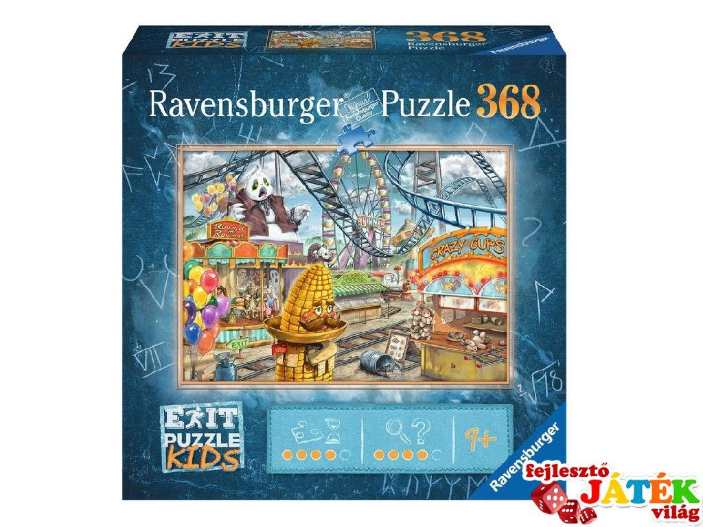 Exit puzzle Kids Vidámpark, 368 db-os nyomozós kirakó (9-12 év)