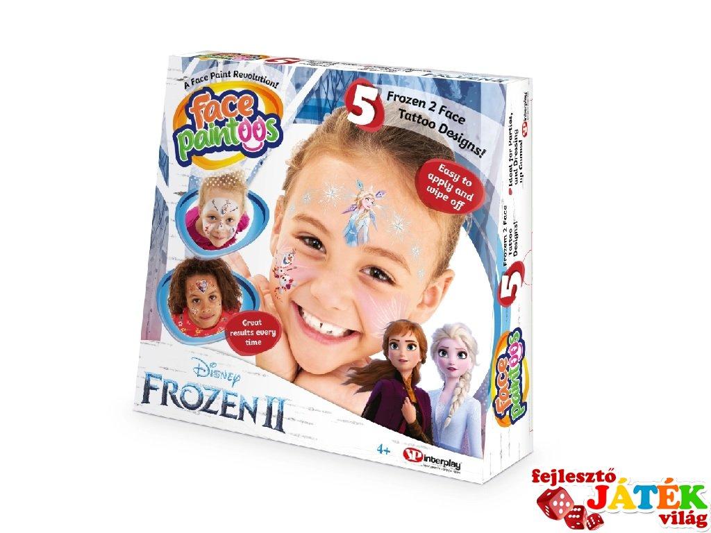 Face Paintoos arcfestés tetoválás csomag, Jégvarázs 2