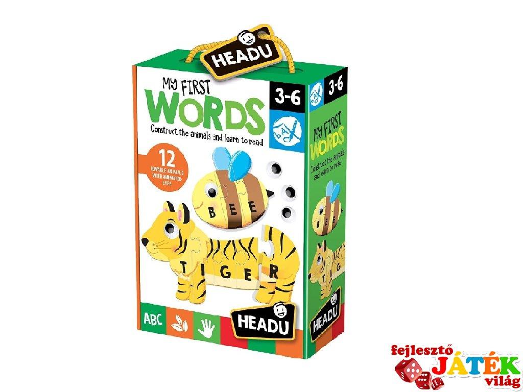 Fejlesztő puzzle Első szavak, angol nyelvtanulást segítő játék (HED, 3-6 év)
