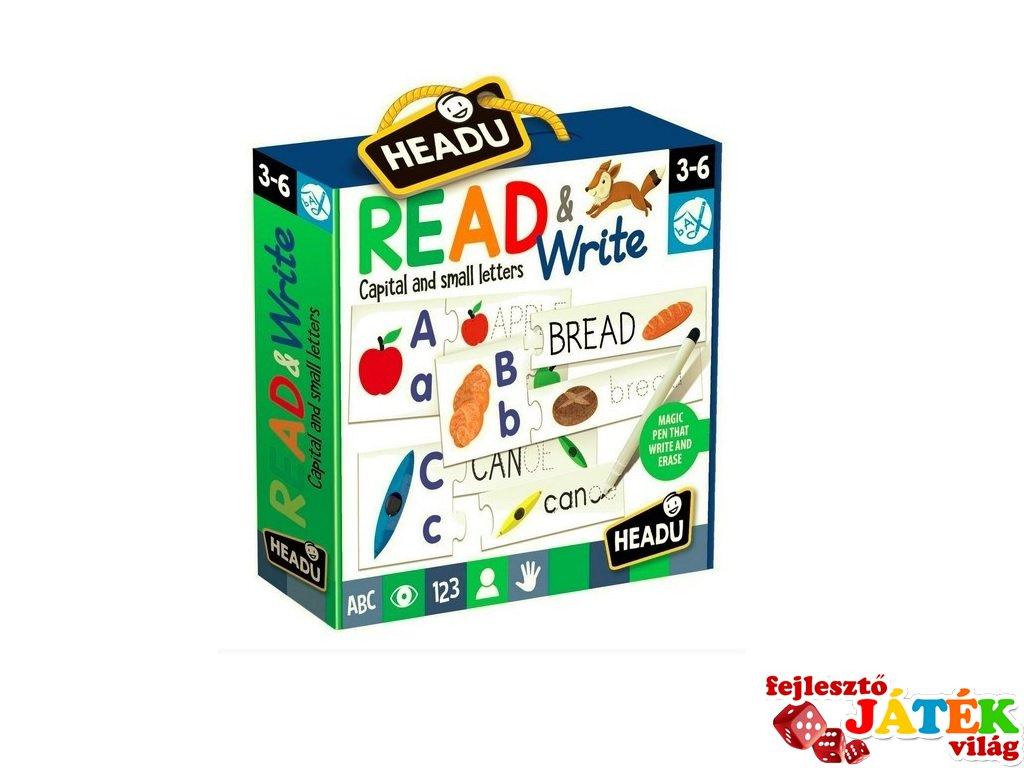 Fejlesztő puzzle, Olvasás és írás, angol nyelvtanulást segítő játék (HED, 3-6 év)