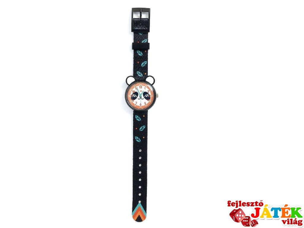 Fekete pandás gyermek karóra, Djeco kiegészítő - 428