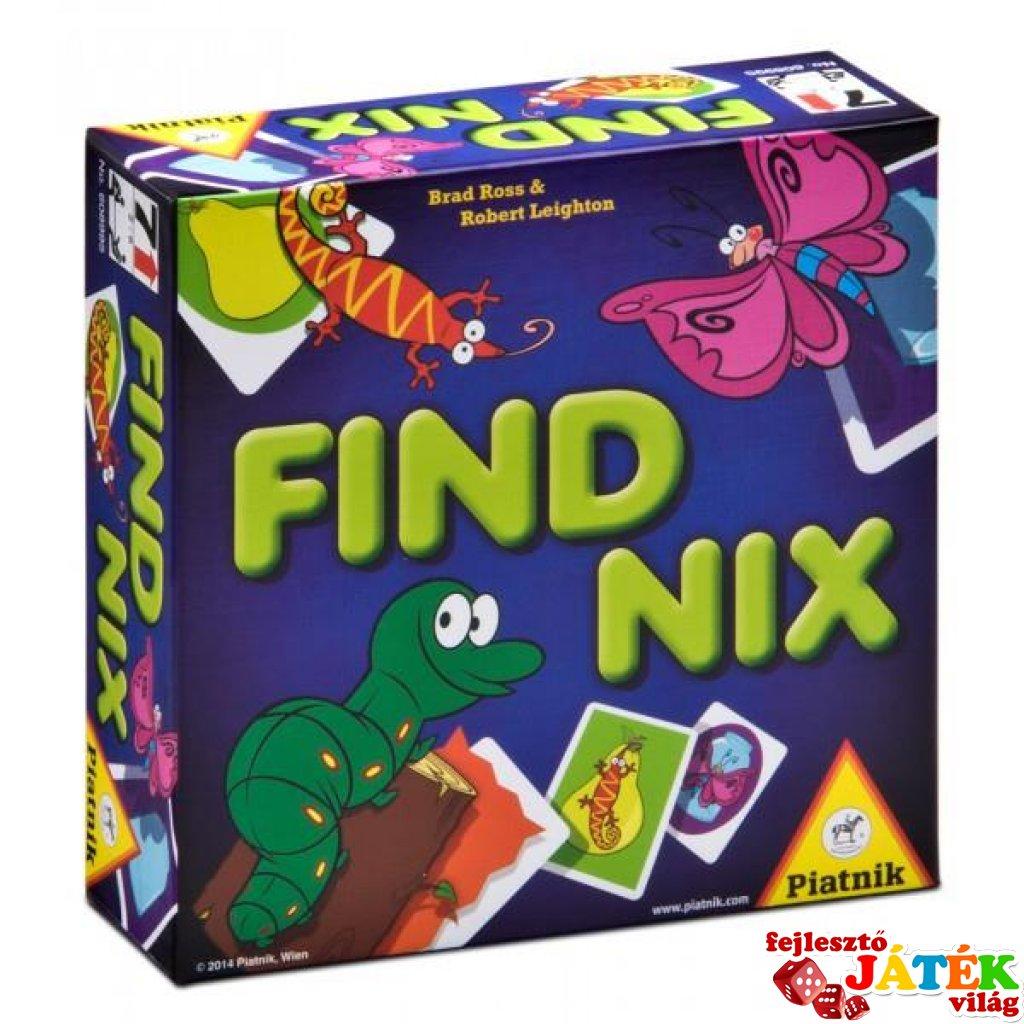 Find Nix (Piatnik, hernyós megfigyelés-gyorsaság kártyajáték, 6-99 év)