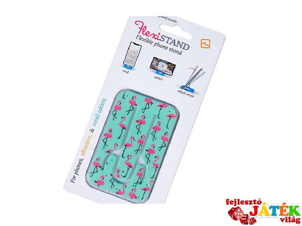 Flexistand hajlítható mobiltartó, Flamingó