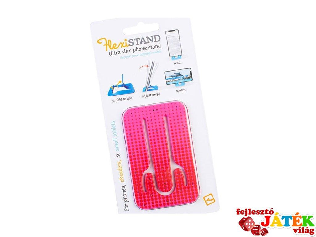 Flexistand hajlítható mobiltartó, Rózsaszín pöttyös