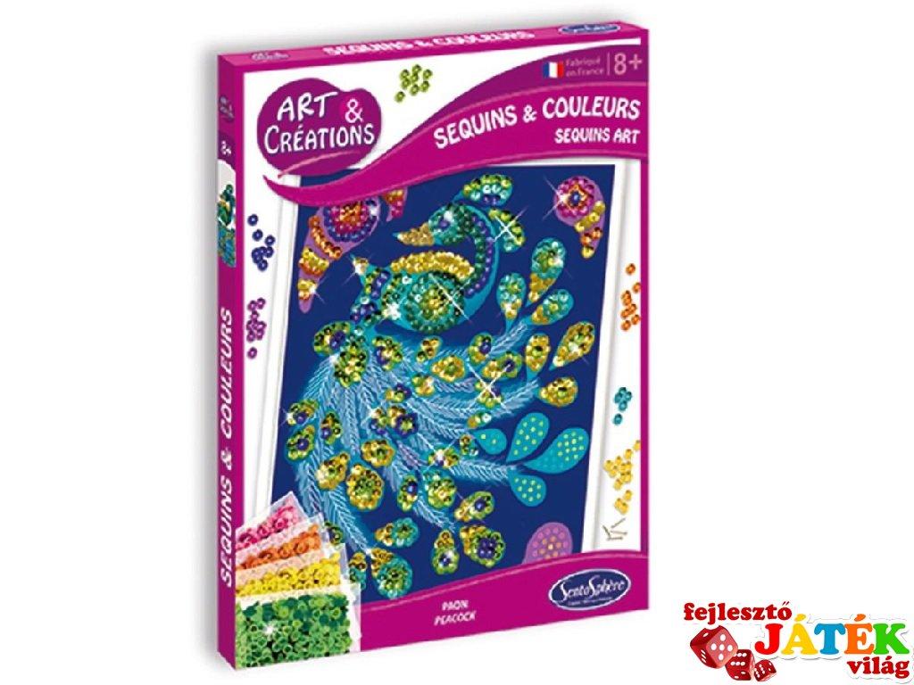Flitterek és színek, Pávák (SentoSphére, kreatív képalkotó szett, 8-12 év)
