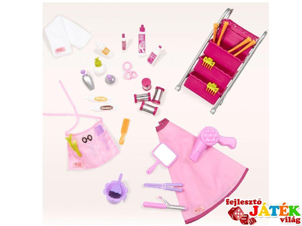 Fodrász szalon kiegészítők játékbabáknak (Our Generation, szerepjáték, 3-9 év)