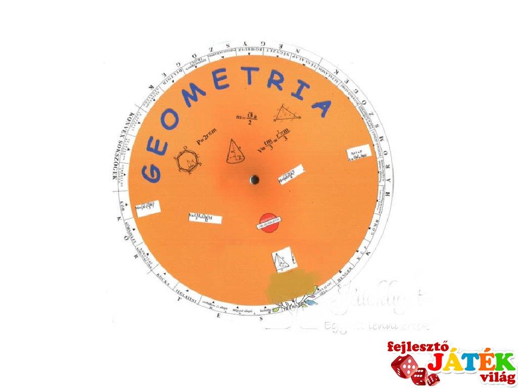Geometria korong, készségfejlesztő, foglalkoztató kiadvány